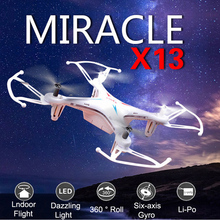 Original Syma X13 2.4G 4 Channel 6-Axis RC Helicopter Mini Quadcopter Drone Throwing Flight Headless without Camera USB  Toys Gi