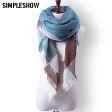 SIMPLESHOW Fashion Winter Scarf For Women Plaid Blanket Scarf Luxury Shawl Warm Scarf Women Pashmina Scarves Soft Free Shipping