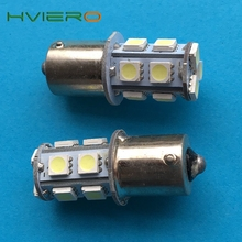 2Pcs 1156 BA15S 1157 BA15D P21W 13Led 5050 Car Led Turn Signal Lights Brake Tail Lamps Auto Parking Rear Reverse Bulbs DC 12V(China)