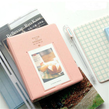 Fujifilm Instax Mini 8 Photo Album (64 slots) Pieces of Monet pink 3 inch Mini Vintage Instax Album free shipping(China)