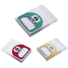 100pcs/set Cute Cartoon Monster Cookie Candy Bag Self-Adhesive Plastic Bags Biscuits Snack Baking Package Gift Bags(China)