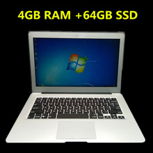 1920*1080P Aluminum Metal Case 13.3 Inch ultrabook laptop&notebook with In-tel i3/i5/i7 Dual-core 1.5Ghz 4GB &64GB SSD WIFI