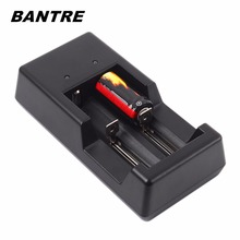BANTRE Intelligent 2 Slot Battery USB Charger Lithium Ni MH Battery Charger With Cable for 18650 18500 18490 17360 16340 AA AAA