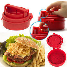 Hamburger Cooking Stuffed Party Burger Make Tool Gadgets Press Meat Mold Maker Burger Meat Grinder BBQ Grill Press Machine(China)