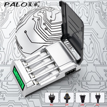 PALO C905 LCD Display 4 Slots Smart Intelligent Battery Charger AA / AAA NiCd NiMh Rechargeable Batteries fast charging