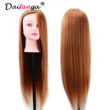 Training Head 55cm High Temperature Fiber and Animal Hair hairdressing Doll Heads Good Female Mannequin Head