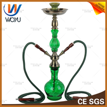 1 set green water pipes Hookah accessories Cigarette holder water pipe smoking shisha pipe tobacco molasses smoking glass bottle