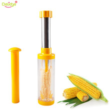 Delidge 1pc Fast Corn Stripper Stainless Steel+plastic Vegetable Corn Grain Separator Remove Kerneler Tools Kitchenware(China)