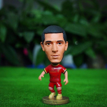 Kodoto National 6.5*3.5 cm Size Resin Football Doll 10 Eden Hazard Doll in Red Kit