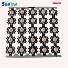 25pcs/lot Original Bridgelux 3w Full Spectrum Led Grow Light Chip with PCB Star .3W  Led Diode for Indoor Plant