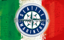 Baseball Seattle Mariners Flag 3x5 FT 150X90CM Banner 100D Polyester flag 1077, free shipping