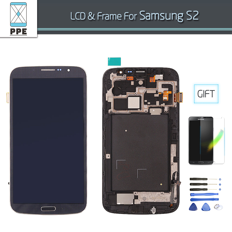 LCD display for Samsung Galaxy S2 SII i9100 i9105 LCD screen touch digitzer frame complete assembly repair pantalla blue white<br><br>Aliexpress