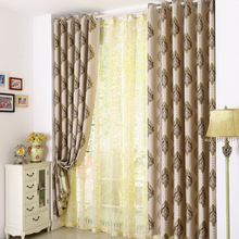 2017 Curtains New For living dining Room Bedroom new style European style luxury double jacquard embroidery thread hollow