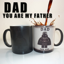 Star War (DAD,you are my father) cute color changing mug Milk ceramic creative juice coffee cup best gift for your dad