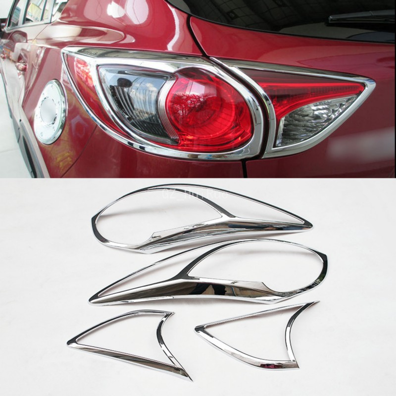 ABS Rear Tail Light Lamp Cover Decoration Trim 4pcs For Mazda CX-5 CX5 2012-2016<br>