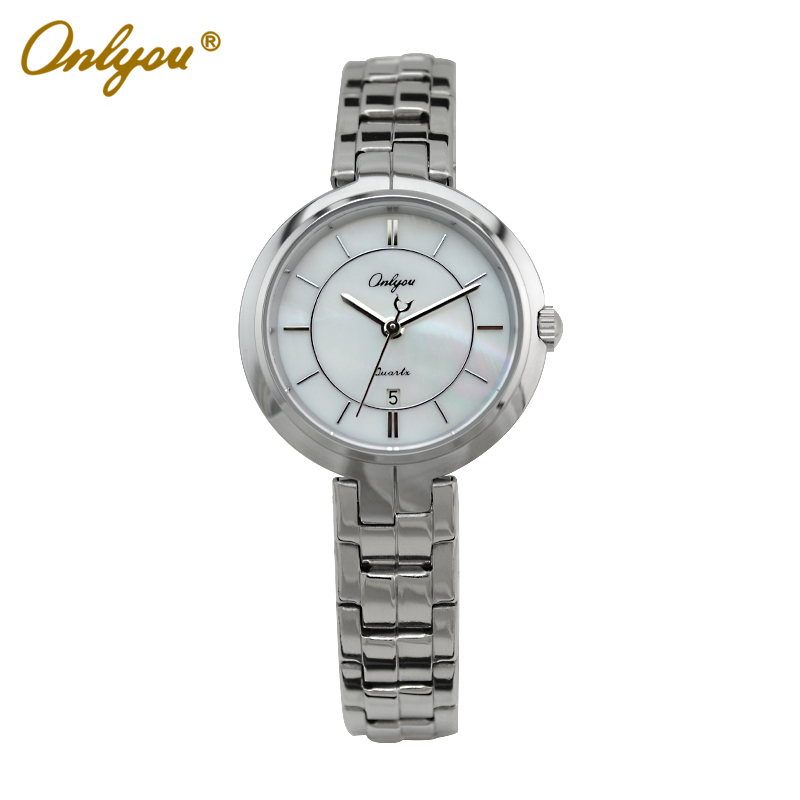 Onlyou Top Brand Luxury Women Watches Quartz Analog Stainless Steel Watchband Silver Ladies Dress Watch Relogio Feminino 81079<br><br>Aliexpress