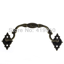 Free-Shipping-10Sets Jewelry Case Box Handle Drawer Antique Bronze Pattern Carved 9.6cm x 3.6cm 3.3cm x 2.1cm,J2016*2(China)