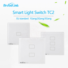Broadlink TC2 EU Standard 1 2 3 gang Mobile Remote Control Light Lamps Wall Switch via Broadlink RM pro,Crystal Glass,domotica(China)