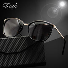 TRUTH oval sunglasses women polarized acetate luxury woman brand flex hinge clear Gradient in case lunettes de soleil homme