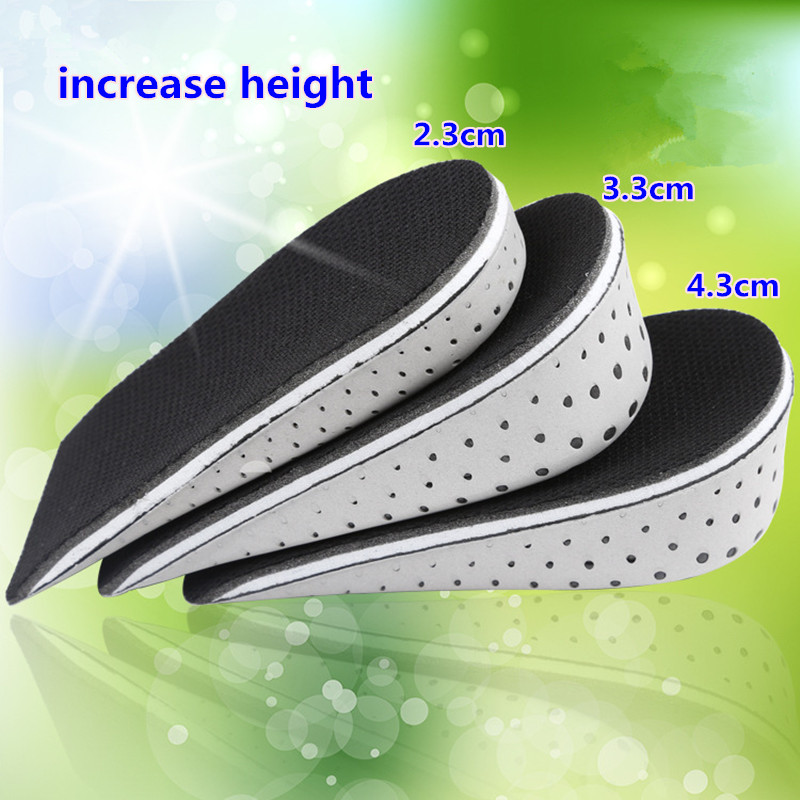 Space Memory Foam Increased Heel Insoles Invisible Half Increase Height 2-4cm Add Taller Lift Women/Men Shoes Pad Insert<br><br>Aliexpress