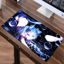 60*30cm Cute Cat girl Hatsune Miku Mouse pad gamer gaming ACGN Two dimensions anime mouse pad table mat for PC computer laptop(China)