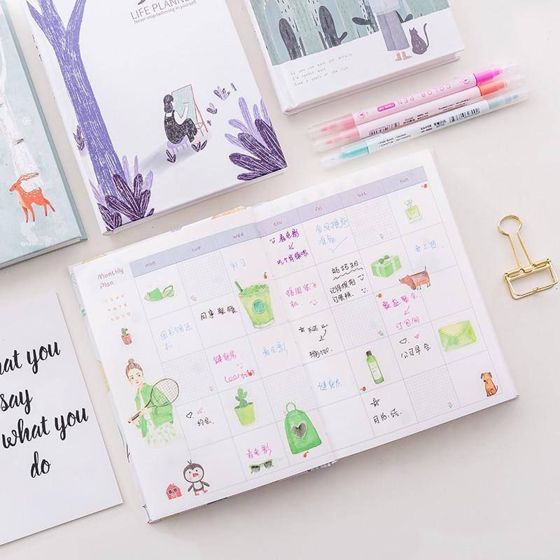 Notebooks 365 Tage Persönliche Tagebuch Planer Hardcover Notebook Tagebuch 2018 Bürowochen Zeitplan Nette Koreanische Briefpapier Libretas Y Cuadernos Office & School Supplies