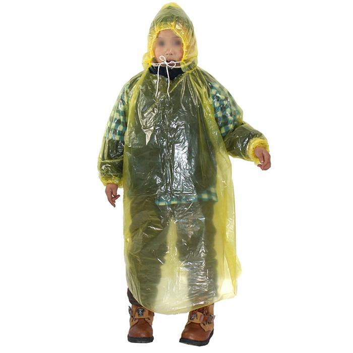20x Disposable Adult Emergency Waterproof Rain Coat Poncho Hiking Camping Hood