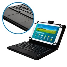 Universal 7-8 inch Detachable Bluetooth Keyboard With Touchpad Leather Stand Cover Case For Apple iPad mini 1 2 3 4+Pen