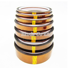 Free shipping 5mm 6mm 8mm 10mm 12mm x 33M Brown Heat Resistant High Temperature Polyimide Adhesive Tape(China)