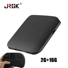 JRGK S BOX 4K Smart TV BOX Android 6.0 Set top Box Amlogic S905X Octa-Core 2G/16G WIFI Bluetooth HD Media Player(China)