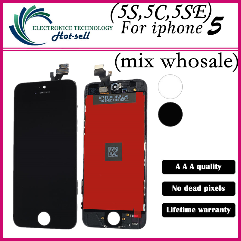 AAA Good Quality No Dead Pixel LCD screen Display and touch digitizer assembly For iPhone 5 5s 5c LCD screen<br><br>Aliexpress