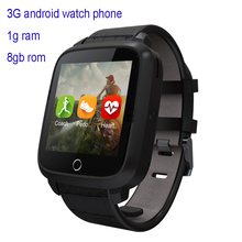 New arrival 3g android smart watch phone U18S with compass gps heart rate monitoring vs xiaomi huawei smart wearable device