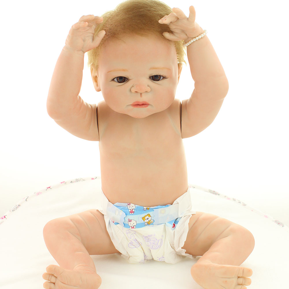 50-55cm Handmade Full Silicone Reborn Baby Dolls New Arrived Star Product No Clothes Open the Eyes Best Toys to Child Play House<br><br>Aliexpress