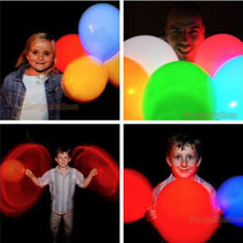 50Pcs Halloween Led Light Balloon Flashing Colorful Light for Birthday Wedding Party Supplies Kids Balloon Toys