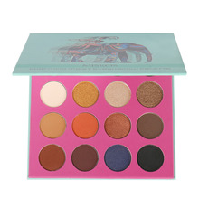 Miskos 16 Colors Eyeshadow Palette Wet Powdered Matte Glitter Diamond Eye Shadow Makeup Palette Green Elephant Nude Sombras(China)