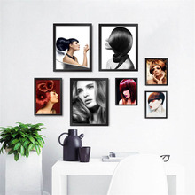 Barbershop New Hair Styling Beauty Salon Pictures Wall Decor Painting Hair Salon Fashion Trendy Hair Posters And Prints HD0987