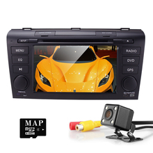 Wince 6.0 Car DVD Player Fit Mazda 3 GPS Navigation 2Din Steering Wheel 800*480 3G Radio Bluetooth TV DAB+BOX DVB-T Rearview CAM(China)