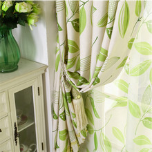byetee Leaves blackout drapes Bay Window Livingroom Curtain Bedroom Finished Product Customization Free Shipping Curtains