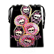 H-P769 Custom Monster high#13 drawstring bags for mobile phone tablet PC packaging Gift Bags18X22cm SQ00806#H0769(China)