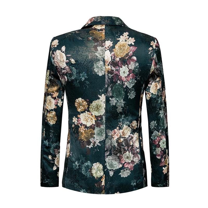 men blazer slim fit suit flowers (2)