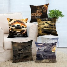 Hot Sale World of Tanks Logo Game Game Personalized Pillow Case Pillow Cushion Cover Cushion(China)