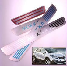 2016 NEW DESIGN 2012 2013 2014 2015 For OPEL VAUXHALL MOKKA STAINLESS STELL DOOR SILL PLATE ENTRY SCUFF COVERS CAR ACCESSORIES