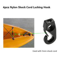4pcs Kayak Canoe Nylon Shock Cord Lashing Hook J Hooks for Kayak Canoe Boat Paddle Board Bungee Cord Accessories