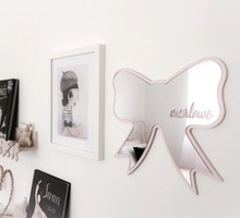 Ins Nordic Wood Wind Snow Butterfly Love Swan Children Room Cecoration Mirror Home Furnishing Acrylic Wall Sticker
