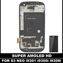 Sensor Replacement LCDs For Samsung Galaxy SIII S3 Neo i9300i i9301 i9301i i9308i AMOLED LCD Display With Touch Screen Digitizer(China)