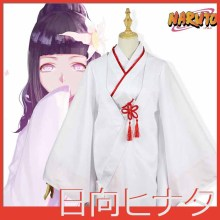 [Stock]Anime  NARUTO~The Last Figure Hyuuga Hinata Ninja Kimono Suit White Uniform Halloween cosplay costume for women New 2017