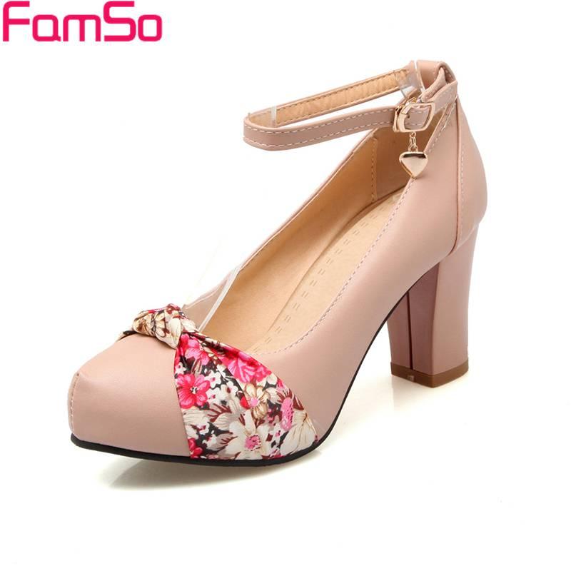 Free shipping 2017 new Arrival Women Pumps Shoes Ankle Strap Black Office Ladies Dress Autumn Platforms Pumps  PS2745<br><br>Aliexpress