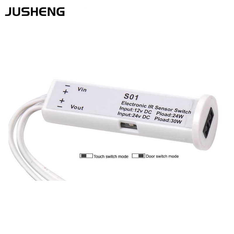 Hot Sale Dual Modes Low voltage IR Sensor Switch 12v/24v work with Under Cabinet lighting or Showcase light auto. controller<br><br>Aliexpress