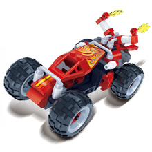 Banbao block small particle blocks children back to the car racing car toy model dust whirlwind Compatible With Legoe(China)