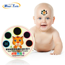 4Pcs/Lot Cartoon Forehead Sticker Baby Thermometer Strips Abs Lcd Digital Reuseable Theremometer For Kids Medical Fever Monitor